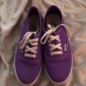 Purple Authentic Vans